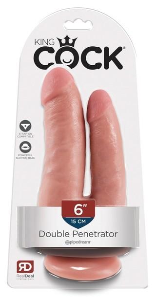 Podwójny dildo - King Cock Dildo Double Penetrator (1)