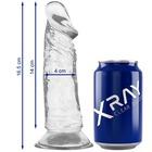 Dildo z przyssawką XRay 16,5 cm przezroczyste (3)